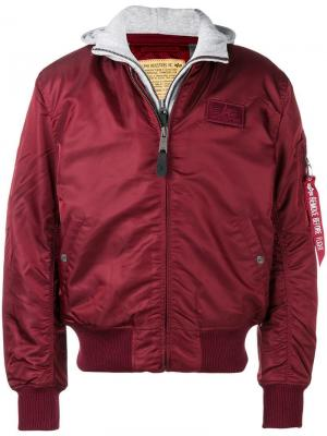 Куртка-бомбер Na-1 Alpha Industries. Цвет: красный