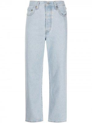 Levis укороченные джинсы Ribcage прямого кроя Levi's. Цвет: синий