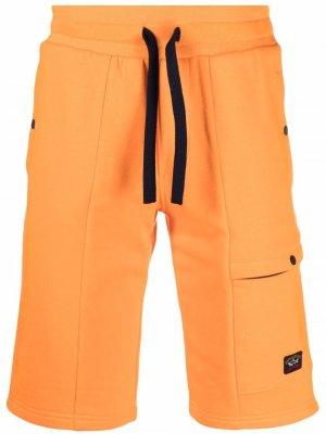 Шорты Iconic Badge с кулиской Paul & Shark. Цвет: оранжевый