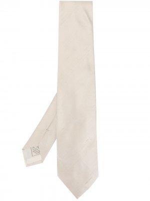 Фактурный галстук Brioni. Цвет: серый