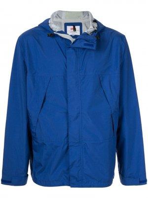Куртка с капюшоном и контрастной полоской Supreme. Цвет: синий