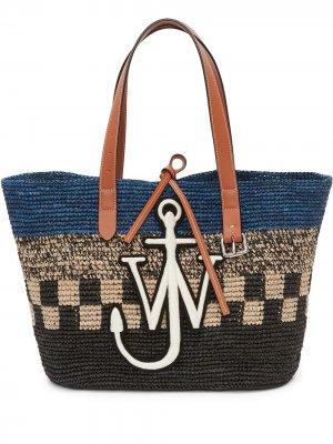 Плетеная сумка-тоут JW Anderson. Цвет: синий
