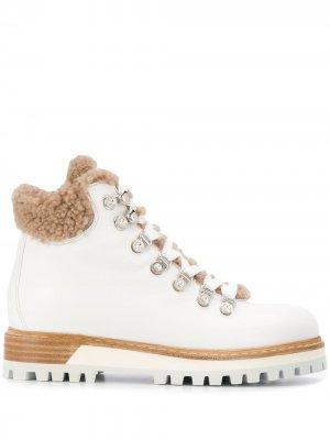 Ботинки на шнуровке Le Silla. Цвет: белый