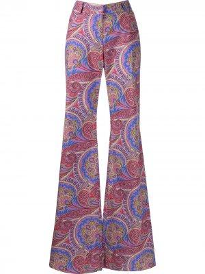 Расклешенные брюки с узором пейсли Alexis. Цвет: фиолетовый