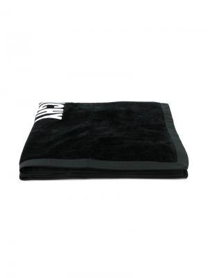 Пляжное полотенце с логотипом Givenchy. Цвет: черный