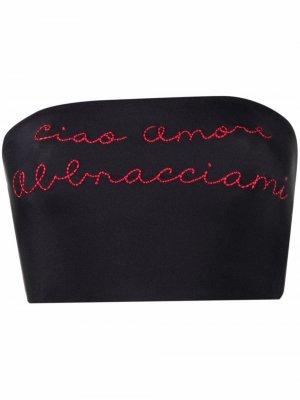 Топ-бандо с вышивкой Giada Benincasa. Цвет: черный