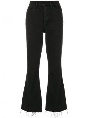 Расклешенные джинсы Wade с бахромой Tory Burch. Цвет: черный