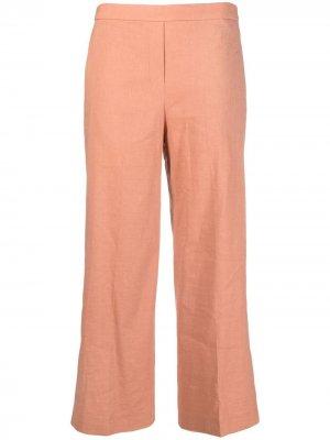 Укороченные брюки широкого кроя Theory. Цвет: оранжевый