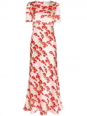 Платье макси Jane с короткими рукавами Bernadette. Цвет: розовый