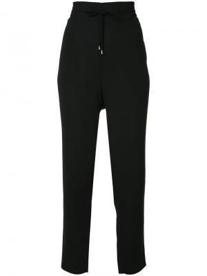 Зауженные брюки со шнурком Mads Nørgaard. Цвет: черный
