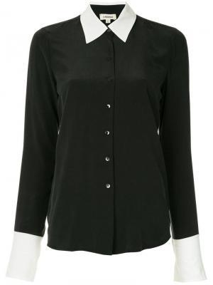 Рубашка на пуговицах L'agence. Цвет: черный