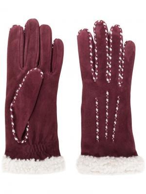 Перчатки Marielouise Agnelle. Цвет: красный