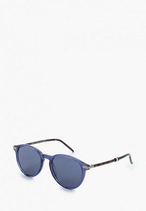Очки солнцезащитные Tommy Hilfiger. Цвет: синий