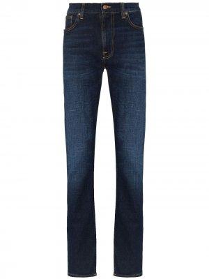 Джинсы Lean Dean кроя слим Nudie Jeans. Цвет: синий