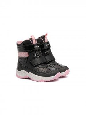 Touch-strap ankle boots Geox Kids. Цвет: черный