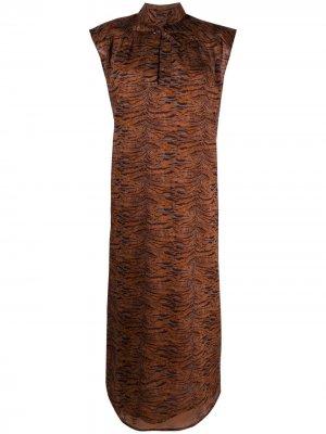 Платье миди с завязками Roseanna. Цвет: нейтральные цвета