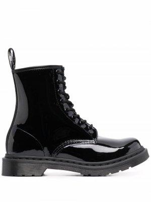 Лакированные ботинки Dr. Martens. Цвет: черный