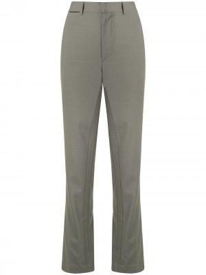 Прямые брюки с завышенной талией Dion Lee. Цвет: серый
