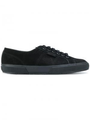 Кроссовки на шнуровке Superga. Цвет: черный