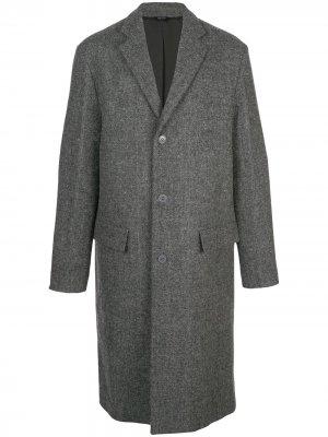 Однобортное пальто OAMC. Цвет: серый