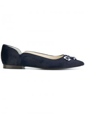 Туфли-лодочки с заостренным носком Delpozo. Цвет: синий