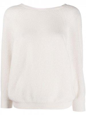 Кашемировый джемпер со сборками Ba&Sh. Цвет: нейтральные цвета