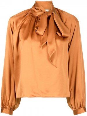 Блузка с бантом Michelle Mason. Цвет: оранжевый