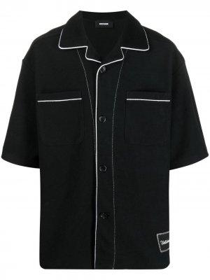 Джинсовая рубашка с контрастной отделкой We11done. Цвет: черный