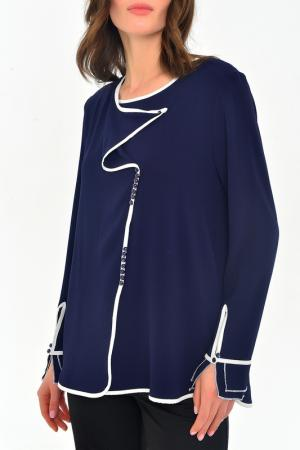 Блуза MONDIGO. Цвет: темно-синий