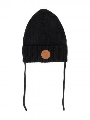 Вязаная шапка Mini Rodini. Цвет: черный
