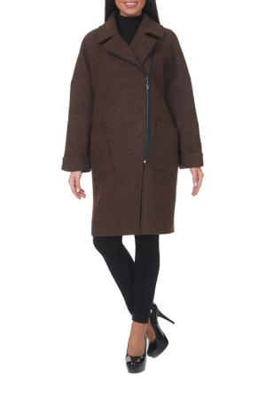 Пальто Argent. Цвет: коричневый