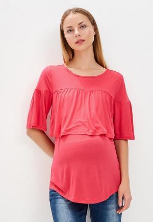 Лонгслив Gap Maternity. Цвет: розовый