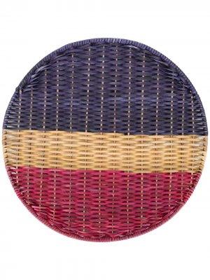 Плетеная подставка под горячее Cancer MARNI INTERIORS. Цвет: синий
