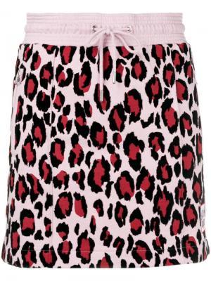 Спортивная юбка с леопардовым принтом Kenzo. Цвет: розовый