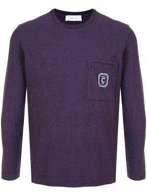 Свитер с накладным карманом Cerruti 1881. Цвет: фиолетовый