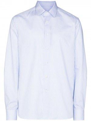 Рубашка в полоску Canali. Цвет: синий