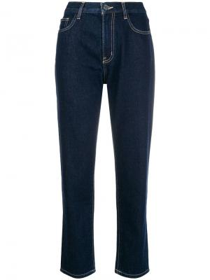 Cropped straight leg jeans Current/Elliott. Цвет: синий