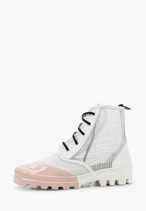 Ботинки My Grey. Цвет: белый