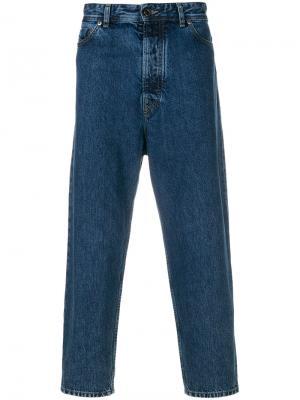Зауженные джинсы Diesel Black Gold. Цвет: синий