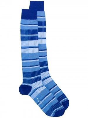 Носки в рубчик с полосками Marni. Цвет: синий