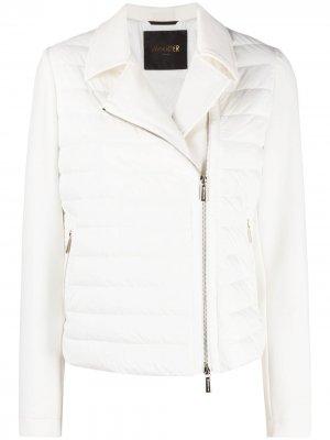 Укороченная стеганая куртка Moorer. Цвет: белый