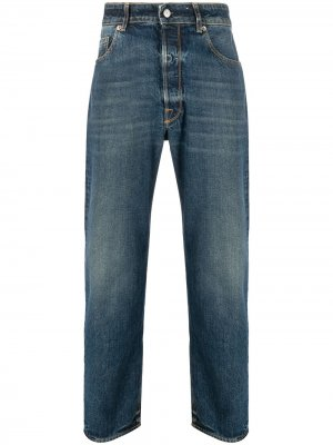 Прямые джинсы с нашивкой-логотипом Golden Goose. Цвет: синий