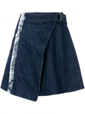 Taped denim skirt House Of Holland. Цвет: синий