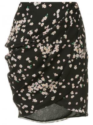 Юбка с цветочным принтом Camelia CAMILLA AND MARC. Цвет: черный