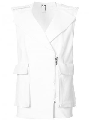 Пиджак без рукавов с массивными карманами Thomas Wylde. Цвет: белый