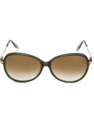 Солнцезащитные очки Acetate Butterfly Victoria Beckham. Цвет: зеленый