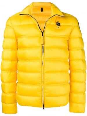 Short padded jacket Blauer. Цвет: желтый