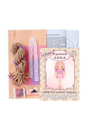 Набор для шитья Куколка Лика СТУДИЯ ДЕКОРА ТУТТИ. Цвет: розовый