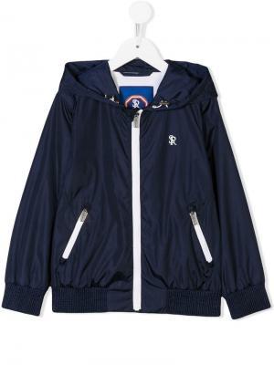 Logo rain jacket Stefano Ricci Kids. Цвет: синий