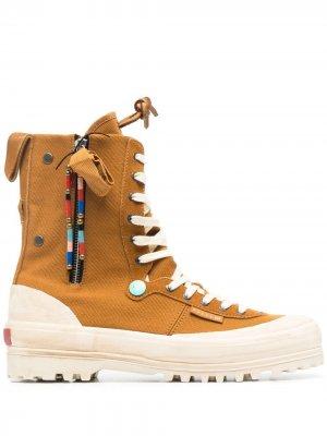 Ботинки на платформе Superga. Цвет: нейтральные цвета